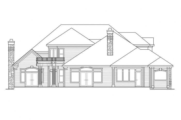 Classic House Plan - Macleod 14467 - Rear Exterior