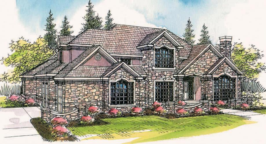 European House Plan - Macleod 14467 - Front Exterior
