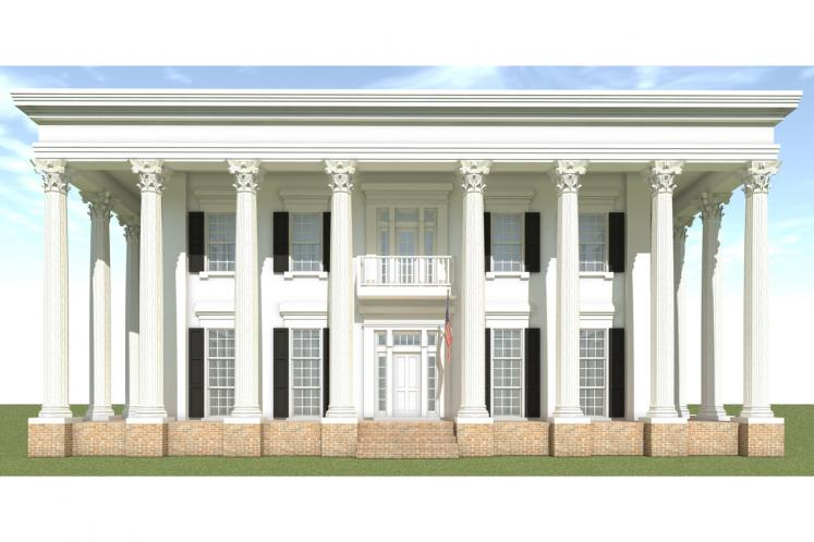 Southern House Plan - Edward Stephen 14528 - Front Exterior