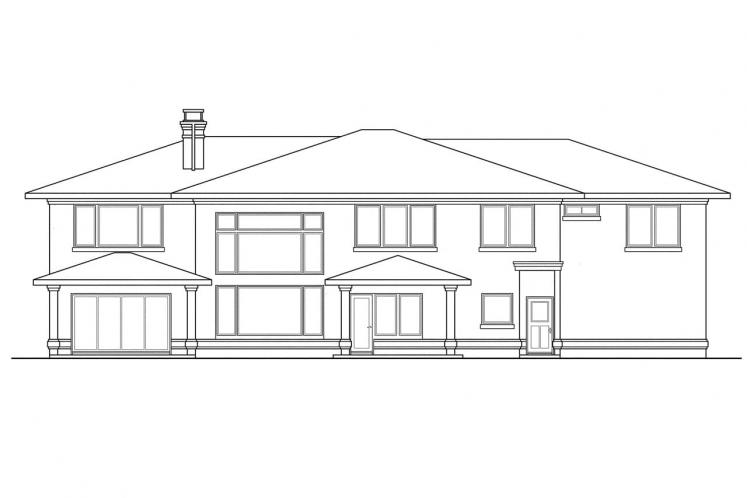Southwest House Plan - Moderna 14529 - Rear Exterior