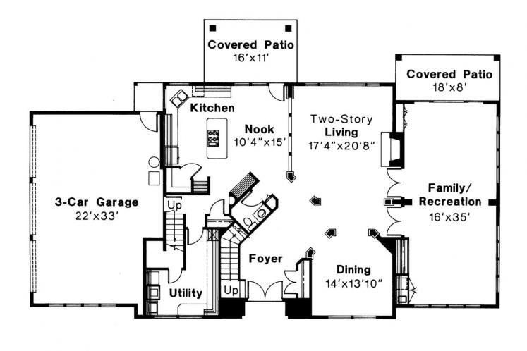 Southwest House Plan - Moderna 14529 - 1st Floor Plan