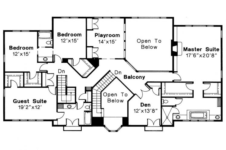 Spanish House Plan - Moderna 14529 - 2nd Floor Plan