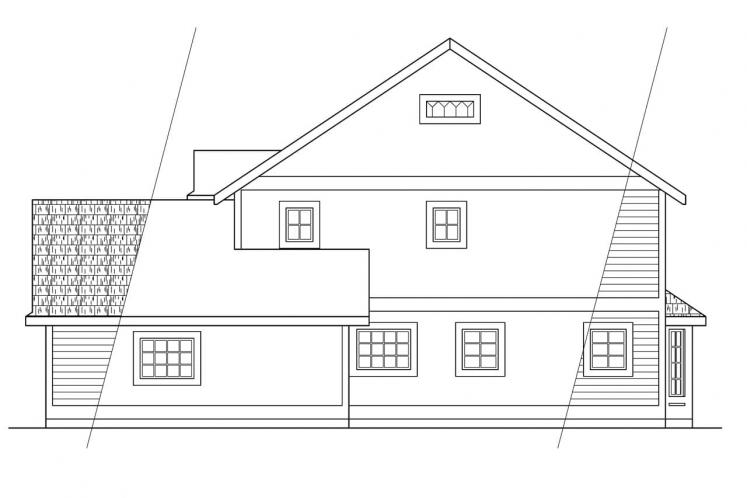 Traditional House Plan - Prescott 14594 - Right Exterior
