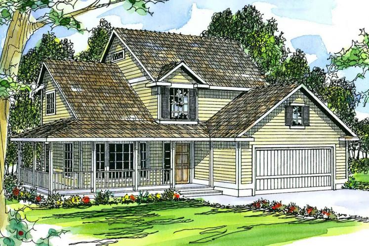 Country House Plan - Prescott 14594 - Front Exterior