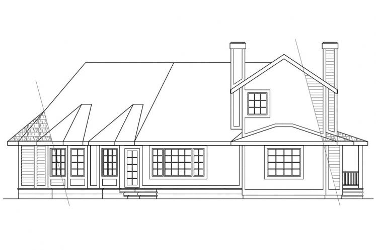 Traditional House Plan - Freemont 14688 - Rear Exterior