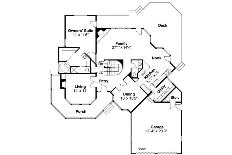 Traditional House Plan - Freemont 14688 - 1st Floor Plan