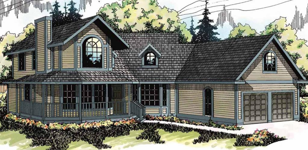 Country House Plan - Freemont 14688 - Front Exterior