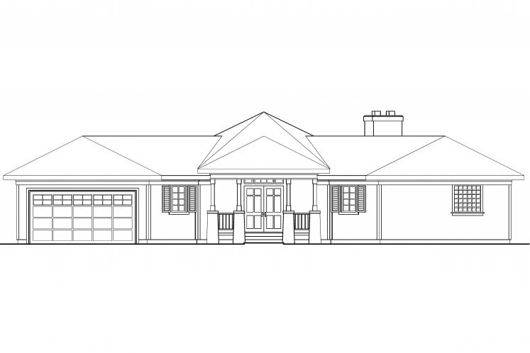 Lodge Style House Plan - McKinley 14762 - Front Exterior
