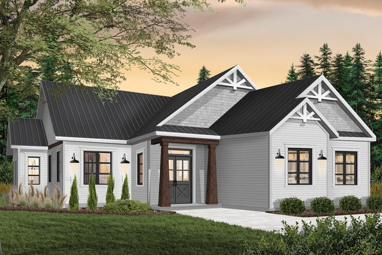 Craftsman House Plan - Providence 5 14857 - Front Exterior