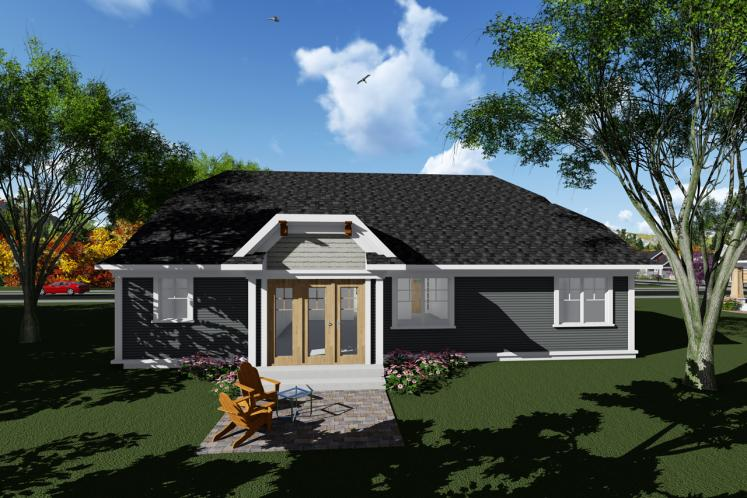 Bungalow House Plan -  14902 - Rear Exterior