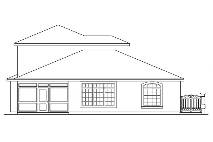 Southwest House Plan - Coronado 14909 - Rear Exterior