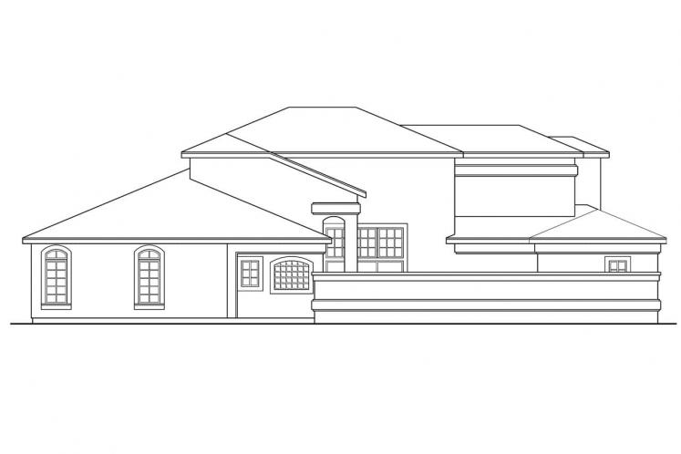 Spanish House Plan - Coronado 14909 - Left Exterior