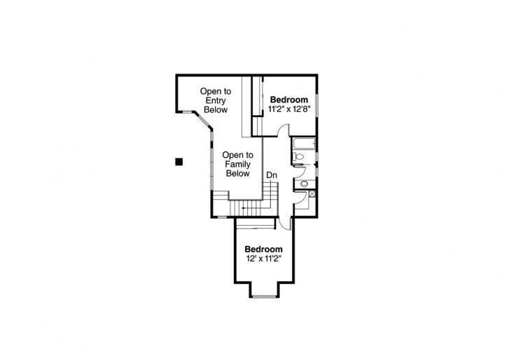 Spanish House Plan - Coronado 14909 - 2nd Floor Plan