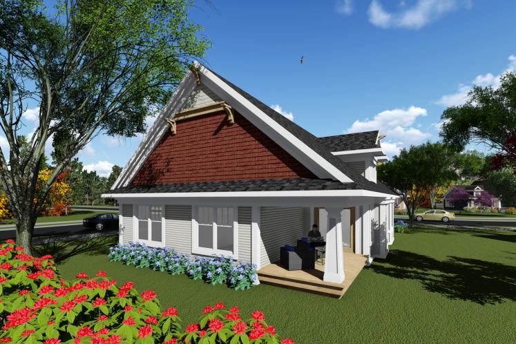 Bungalow House Plan -  14924 - Rear Exterior