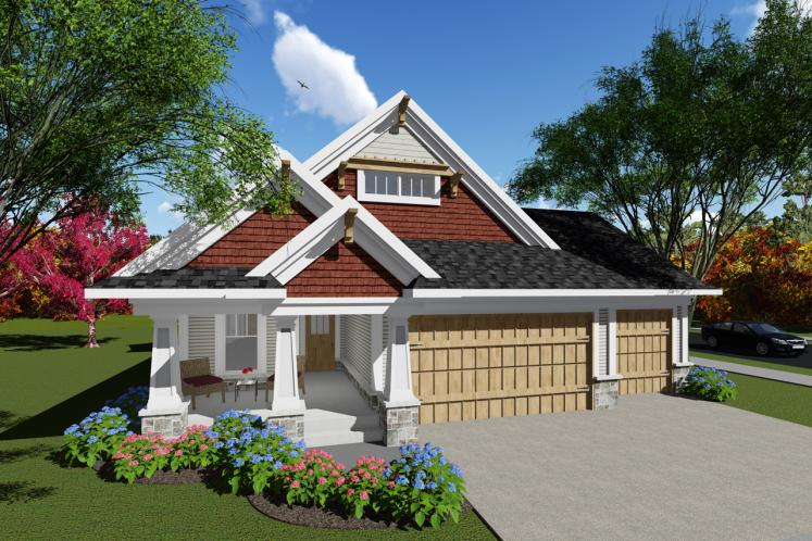 Craftsman House Plan -  14924 - Front Exterior
