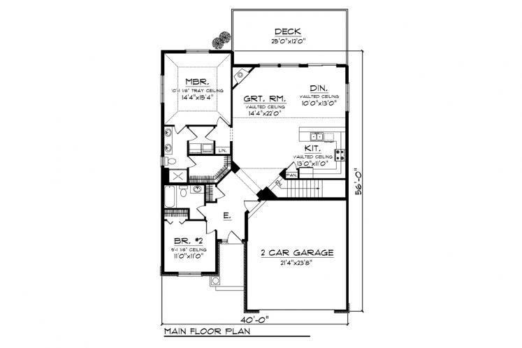 Ranch House Plan -  14941 - 1st Floor Plan