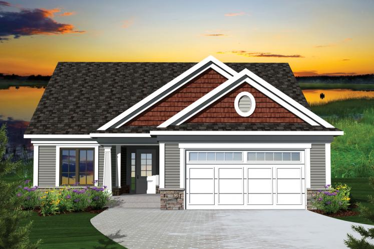 Traditional House Plan -  14941 - Front Exterior