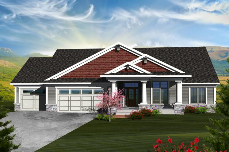 Ranch House Plan -  14957 - Front Exterior