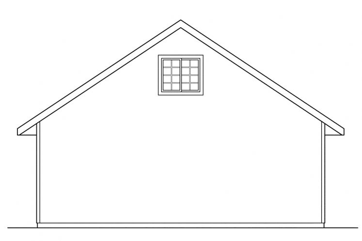 Country Garage Plan -  15068 - Rear Exterior