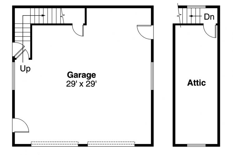 Traditional Garage Plan -  15068