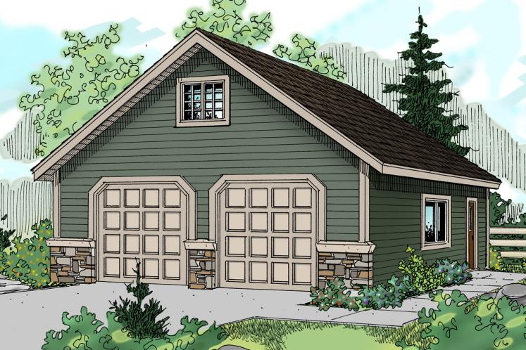 Traditional Garage Plan -  15068 - Front Exterior