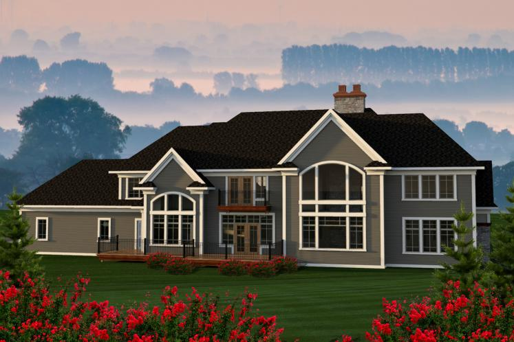 Classic House Plan -  15106 - Rear Exterior