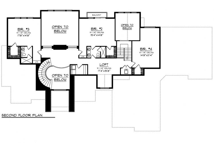 Classic House Plan -  15106 - 2nd Floor Plan
