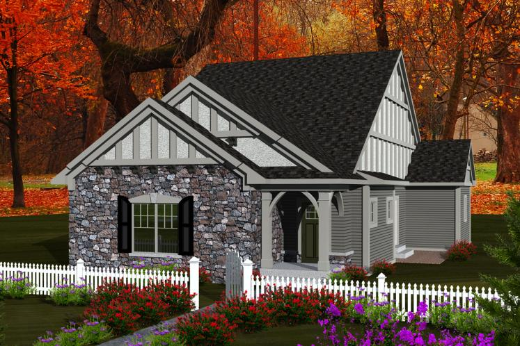 Ranch House Plan -  15112 - Front Exterior