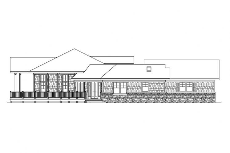 Country House Plan - Heartcrest 15114 - Left Exterior