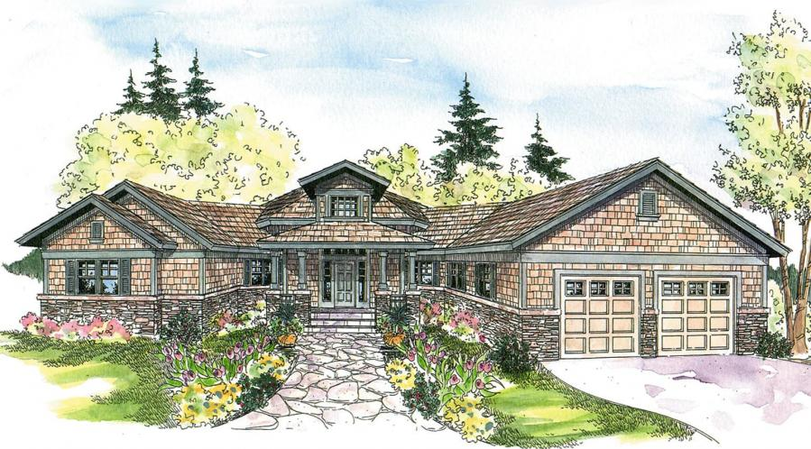Craftsman House Plan - Heartcrest 15114 - Front Exterior