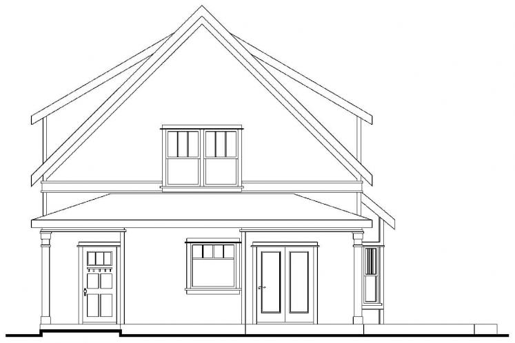 Cottage House Plan - Mayberry 15130 - Rear Exterior