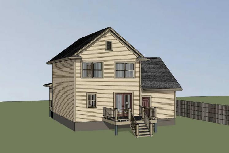 Traditional House Plan -  15174 - Right Exterior