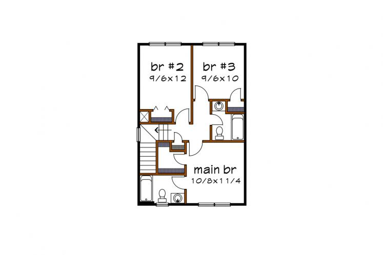Country House Plan -  15174 - 2nd Floor Plan