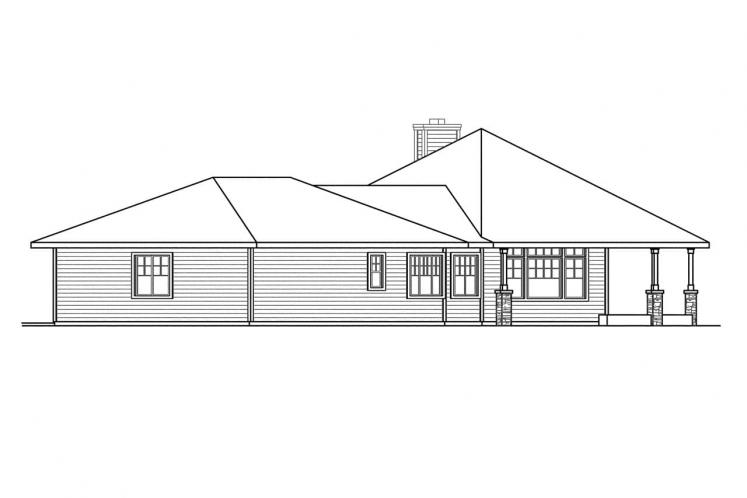 Lodge Style House Plan - Willow Creek 15205 - Right Exterior