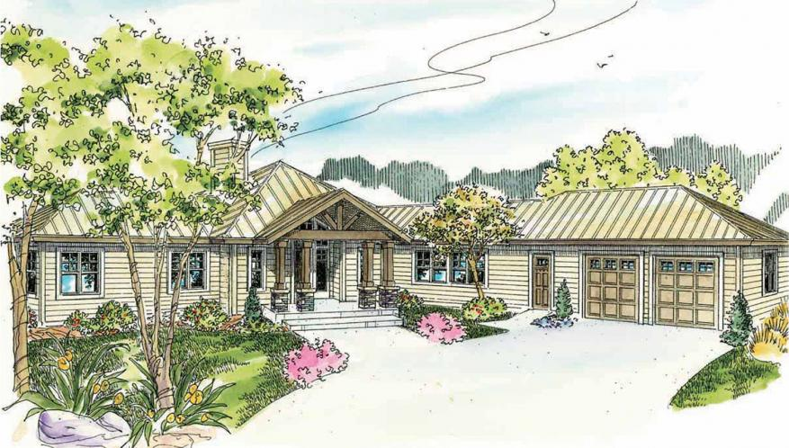 Lodge Style House Plan - Willow Creek 15205 - Front Exterior