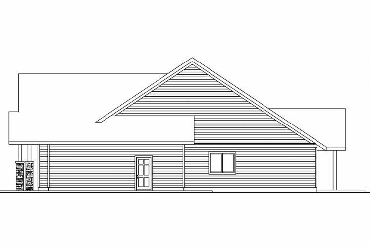 Bungalow House Plan - Oakley 15301 - Right Exterior