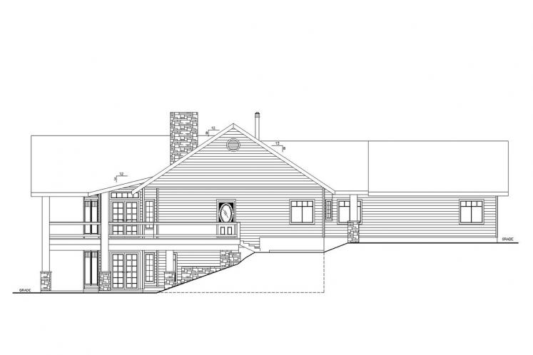 Country House Plan -  15374 - Right Exterior