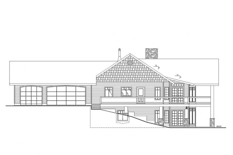 Lodge Style House Plan -  15374 - Left Exterior