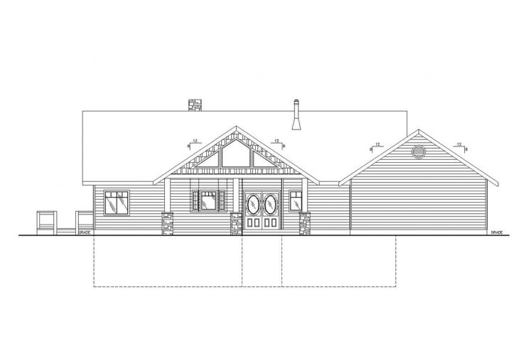 Country House Plan -  15374 - Front Exterior