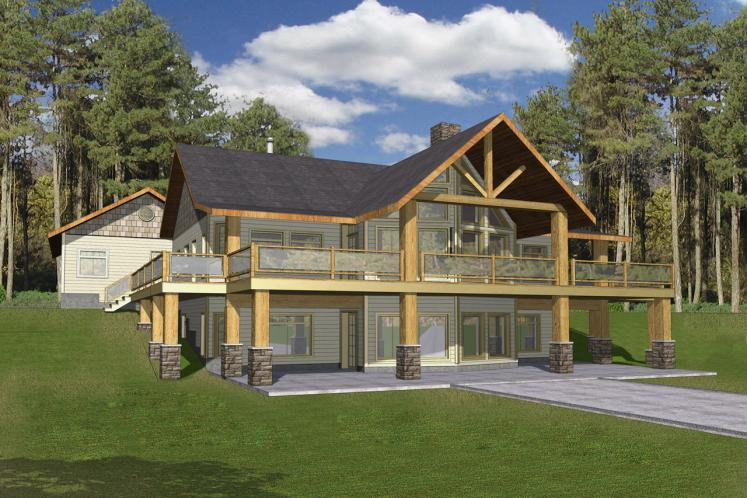 Lodge Style House Plan -  15374 - Front Exterior