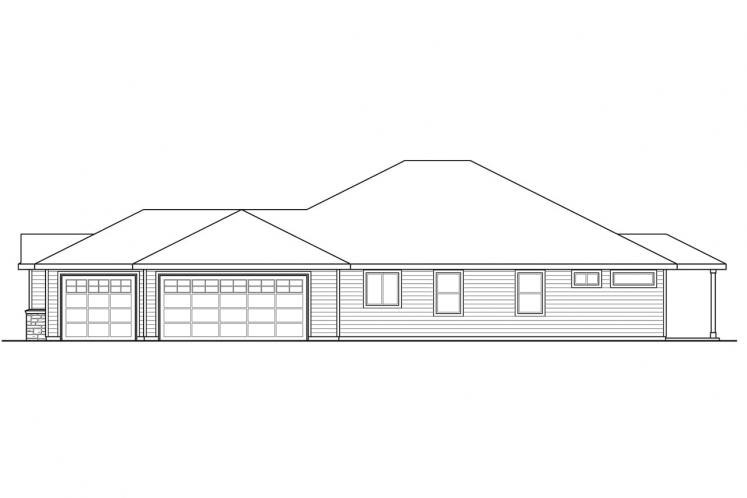 Craftsman House Plan - Cannondale 15377 - Right Exterior