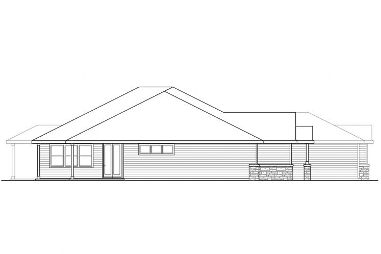 Traditional House Plan - Cannondale 15377 - Left Exterior