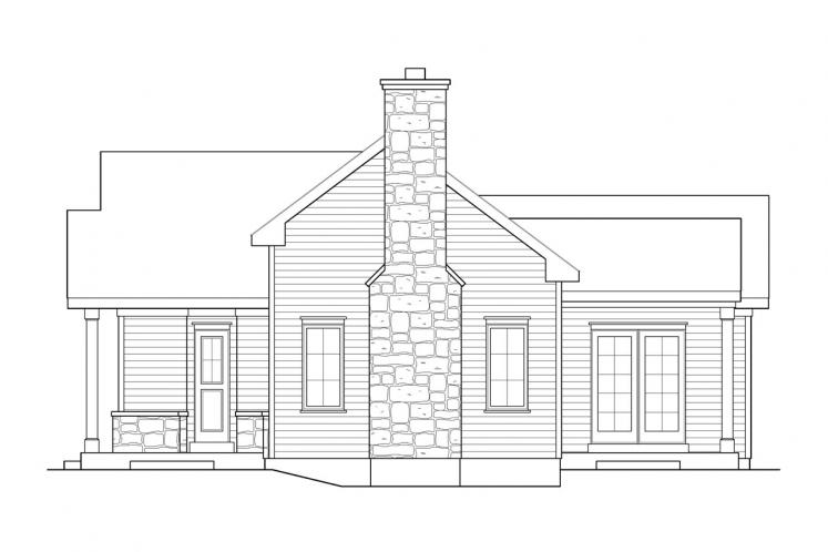 Cottage House Plan -  15485 - Right Exterior