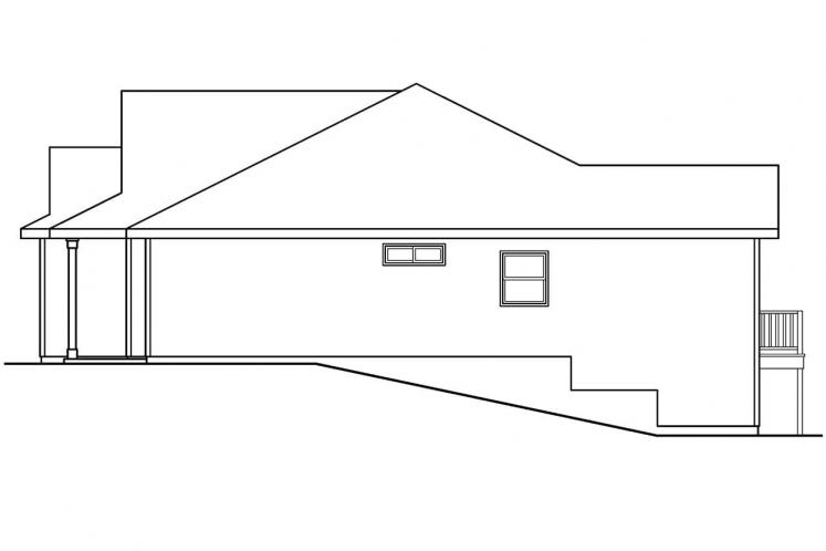 Country House Plan - Olmstead 15558 - Right Exterior