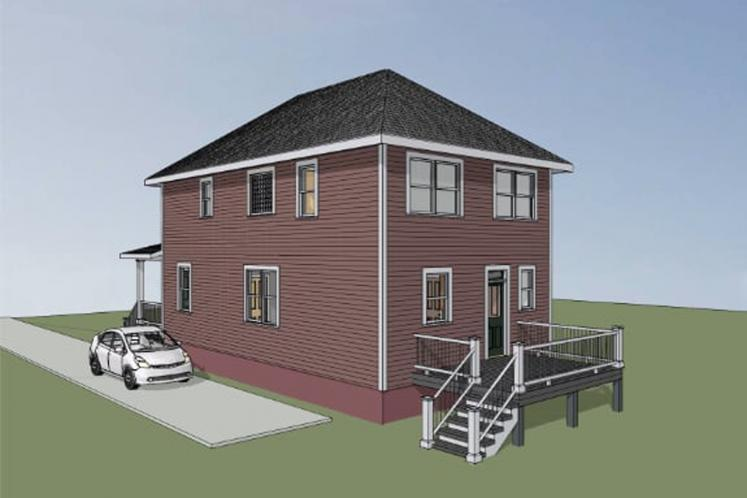 Traditional House Plan -  15568 - Right Exterior