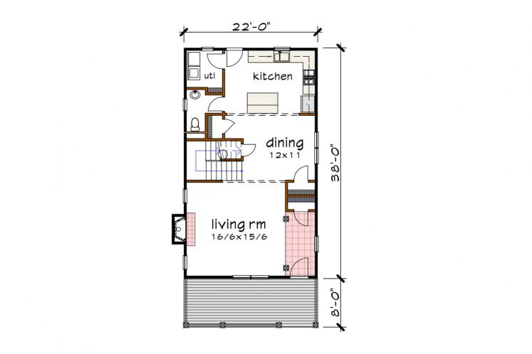 Country House Plan -  15568 - 1st Floor Plan