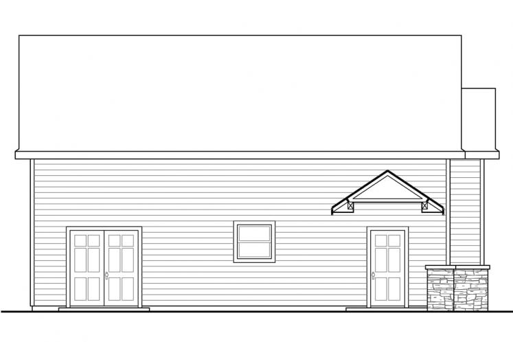 Country Garage Plan -  15591 - Left Exterior
