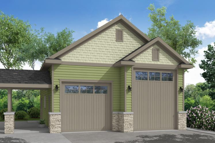 Country Garage Plan -  15591 - Front Exterior