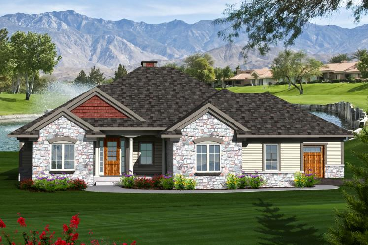 Ranch House Plan -  15614 - Front Exterior