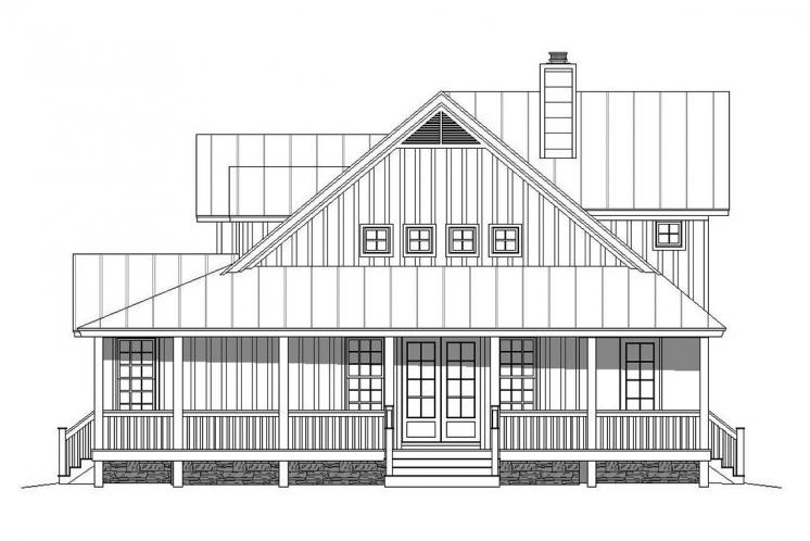 Country House Plan - Patriot Ranch 15630 - Left Exterior
